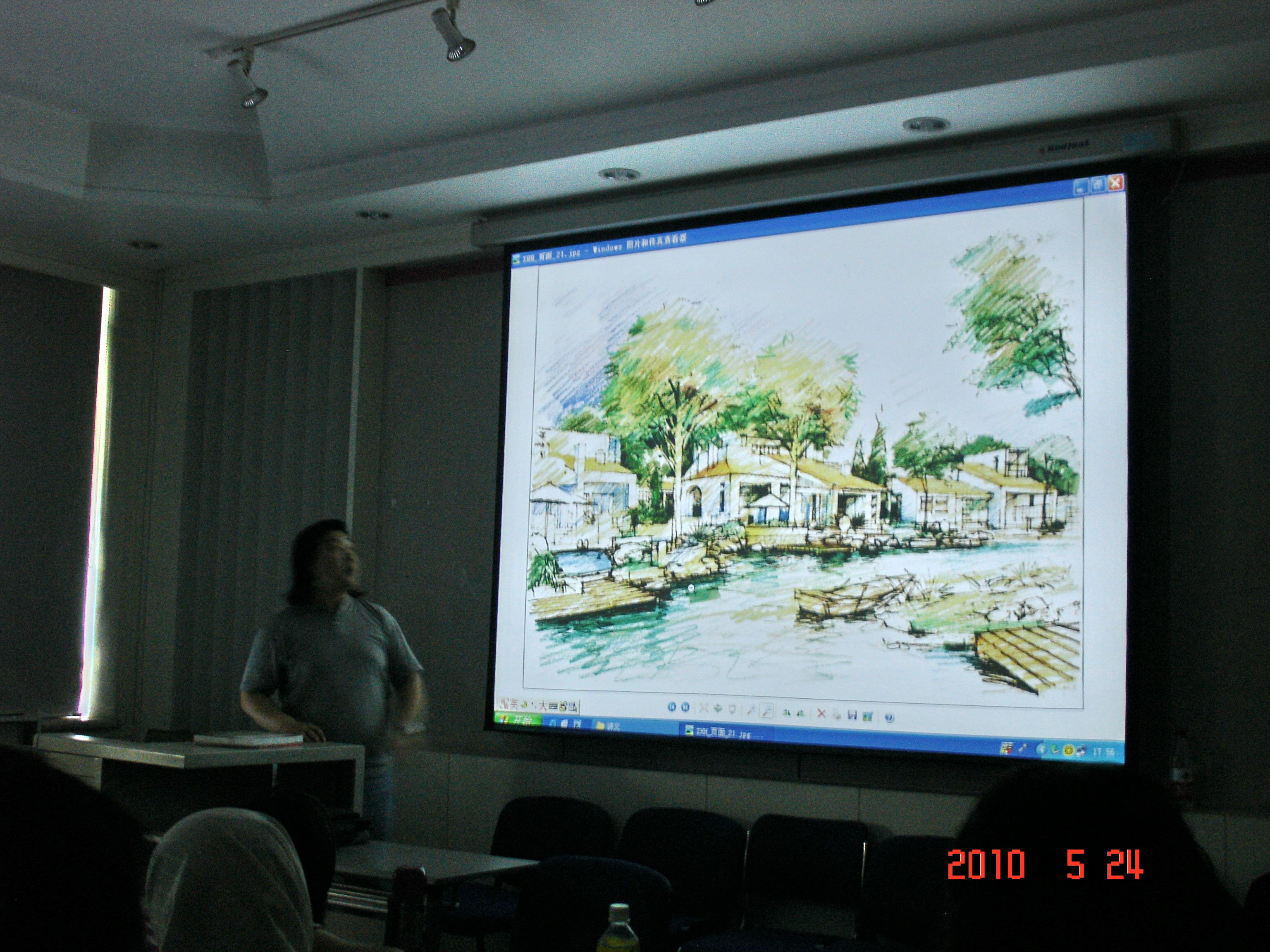 此外,赵航老师还分享了学习手绘的历程和心得.