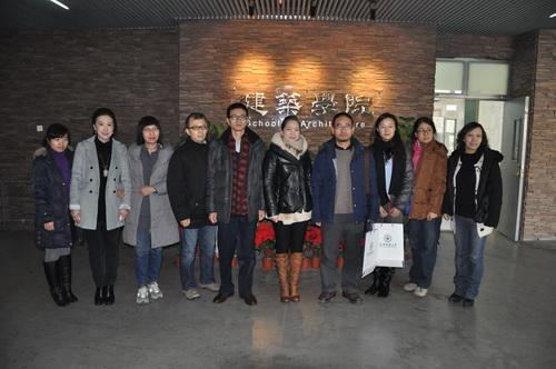 建筑学院到天津大学和天津城建大学学习调研