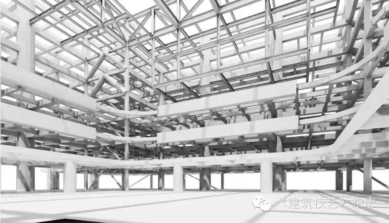 鱼腹式变截面梁与钢结构吊挂体系