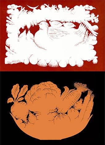 同构动物创意素描图片