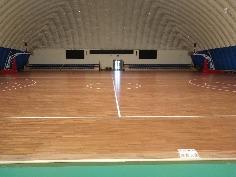 大兴校区气膜体育馆木地板改造项目顺利竣工并交付使用