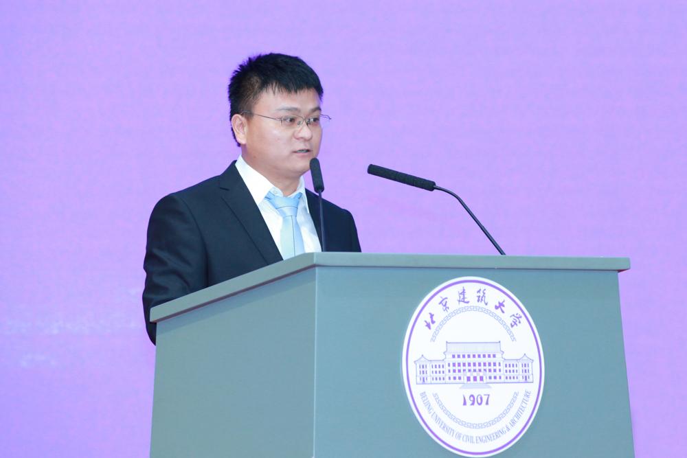 北京市测绘设计研究院工程师武润泽作为校友代表发言